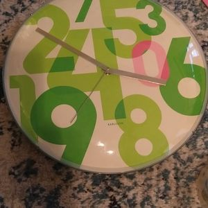 Karlsson clock happy numbers wall clock